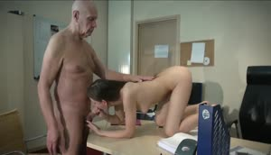 Sugar Babe Fucks Her Older Boss In The Office