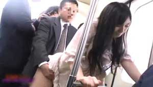 Hot Asian Babe Gets Groped And Fucked In A Train