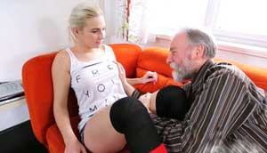 Pervy Grandpa Breaks All Limits And Grabs Young Teen Pussy