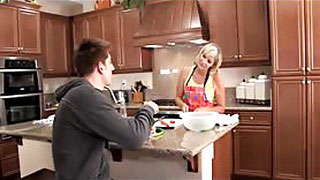 Blonde Milf Mom Pounded In The Kitchen