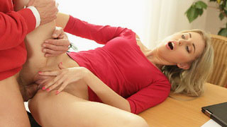 Curious Neighbor Milf Pounded Hard On The Kitchen Table By Horny Dude